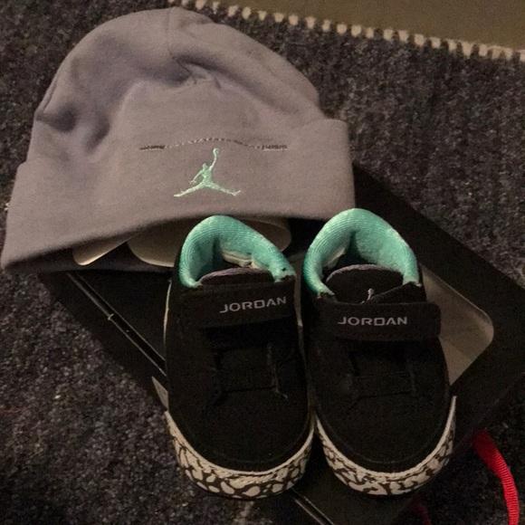 ec1b43b0ee18 Jordan Other - Baby Jordan sneakers with hat size 1C